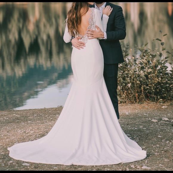 0ce7a28a2e0c Theia Dresses | Devon Crepe Wedding Dress | Poshmark